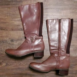 Leather Brown Boots Womens 9.5